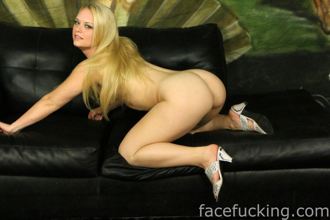 hot blonde bent over naked