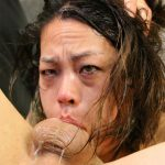 Asian cock gagging whore Laci Hurst back for more ruthless throat fucking